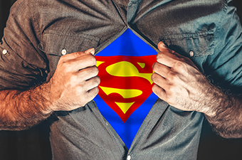 Des Super Héros dans la ville