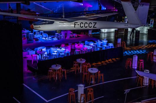 Soirée au musée de l'aviation